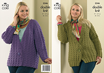 "3246 Knitting Pattern - Ladie's Double Knit 38"" - 50""*"