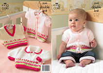 3249 Knitting Pattern - Double Knit Babies*