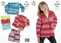 "3244 Knitting Pattern - Double Knit (Splash) 22"" - 30""*"