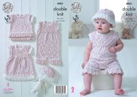 4901 Knitting Pattern - Double Knit Babies 14 - 22""