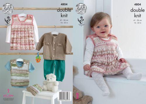 4804 Knitting Pattern - DK Babies 16-22