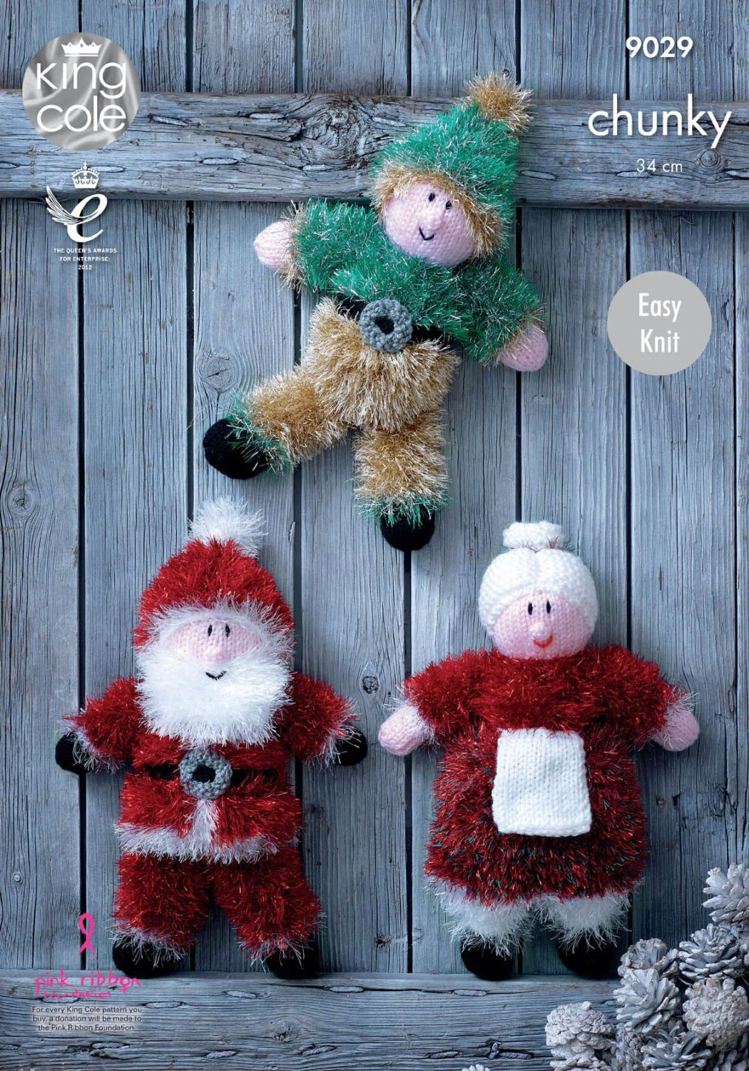 9029 Knitting Pattern - Chunky Christmas (Easy Knit)