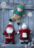 9029 Knitting Pattern - Tinsel Chunky Christmas Toys (Easy Knit)