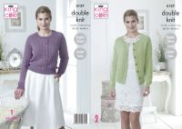 5127 Knitting Pattern - DK Sweater & Cardigan 28/30 - 44/46 (Raglan Sleeve)
