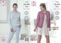 "5124 Knitting Pattern - DK Cardigan & Sweater 28/30 - 44/46"" (Raglan Sleeve)"