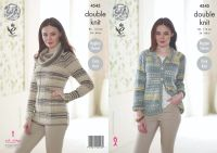"4545 Knitting Pattern in DK - Cardigan & Sweater 34 - 44"" (Easy Knit)"