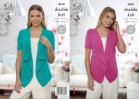 4520 Knitting Pattern - Ladies Waterfall Cardigan in DK 28/30 - 44/46""
