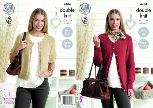 4484 Knitting Pattern - DK Cardigans 32 - 46