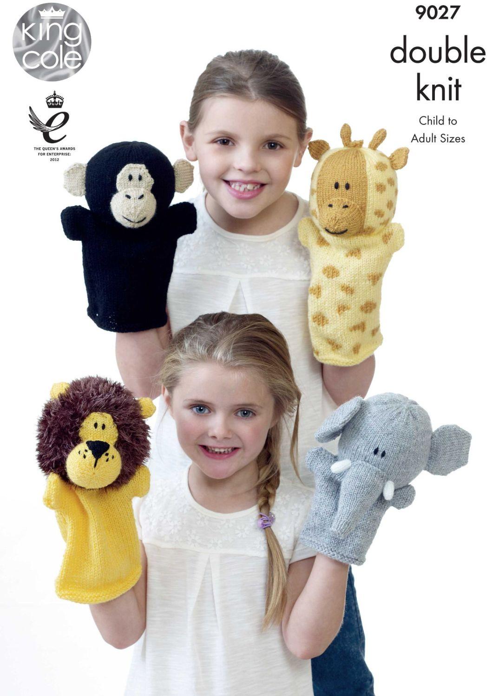 9027 Knitting Pattern - Hand Puppets DK