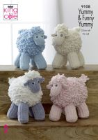 9108 Knitting Pattern - Sheep in Funny Yummy