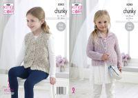 "5283 Knitting Pattern - Girls Chunky 22-30"" (Easy Knit)"
