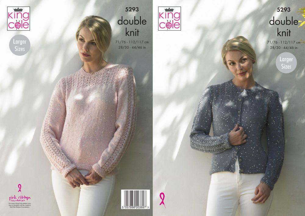 5293 Knitting Pattern - Ladies DK 28/30 - 44/46