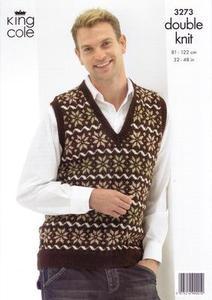 3273 Knitting Pattern - Double Knit (Ladies)*