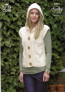 3301 Knitting Pattern - Chunky (Ladies)*