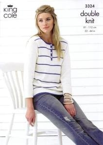 3324 Knitting Pattern - Double Knit (Ladies)*