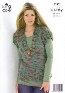 3292 Knitting Pattern - Chunky*