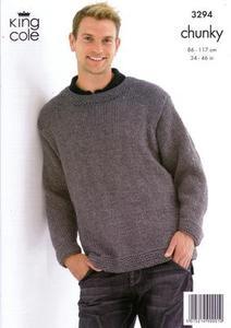 3294 Knitting Pattern - Adult's Chunky *