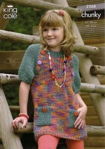3268 Knitting Pattern - Children's Chunky*