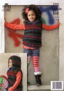 3325 Knitting Pattern - Double Knit (Childrens)*