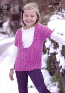 3306 Knitting Pattern - Chunky (Childrens)