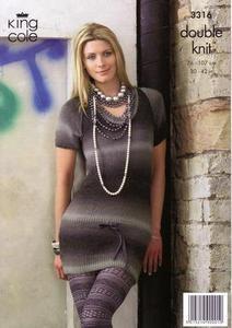 3316 Knitting Pattern - Double Knit Womens*