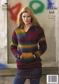 3315 Knitting Pattern - Double Knit  (Womens)