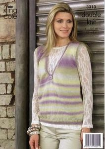 3313 Knitting Pattern - Womens