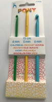 Set of 3 Pony Crochet Hooks - 4mm, 5mm & 6mm (Children's)
