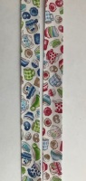 18mm Wide Bias Binding - Tea Party 7361