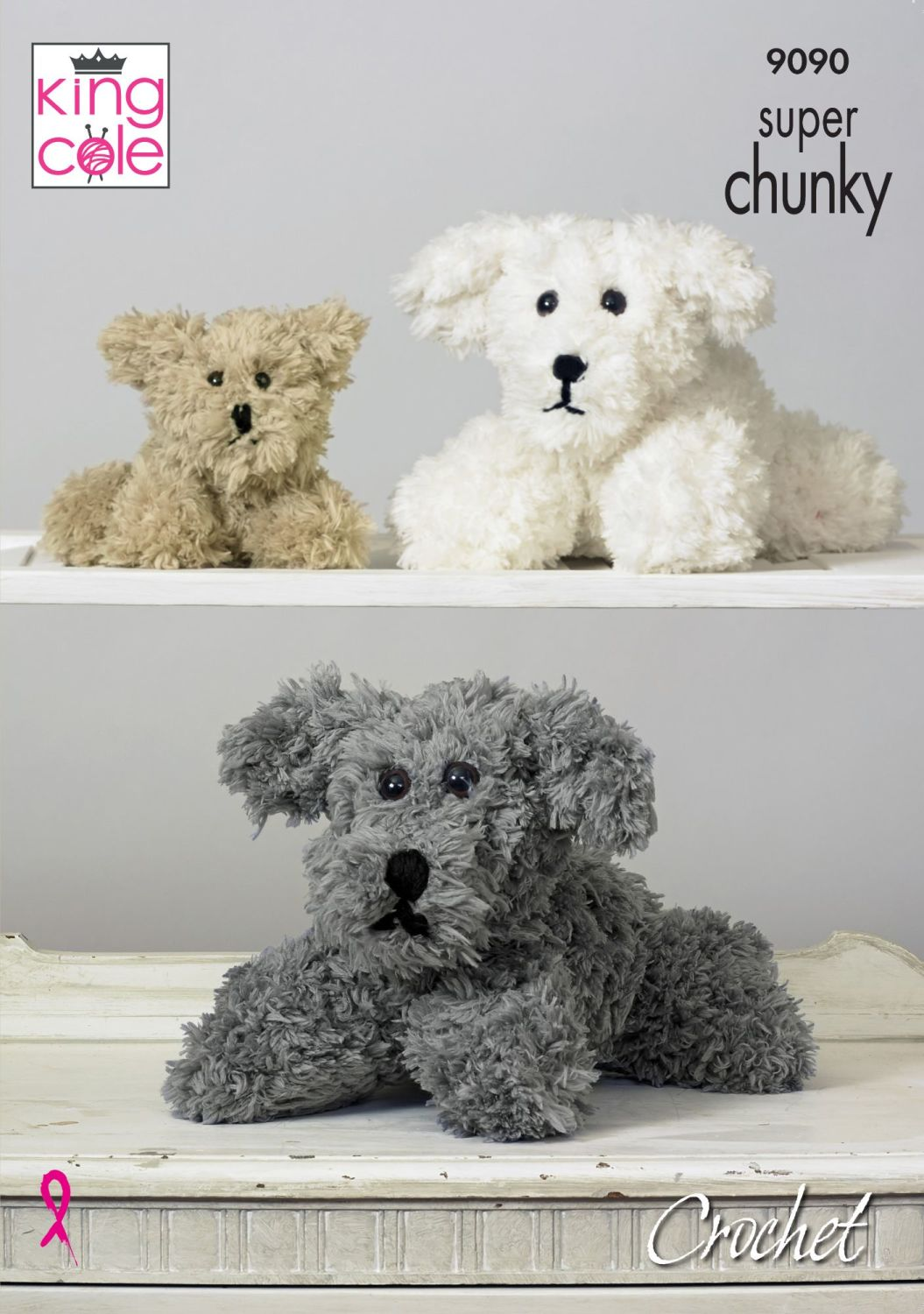 9090 Crochet Pattern - Super Chunky Dog