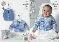 4417 Crochet Pattern - Babies Double Knit