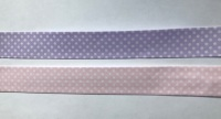 Bias Binding Pale Pink with White Spots 31 - 25mm Wide