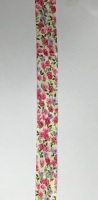 25mm Pink & Lilac Floral Bias Binding - Fantasia 2199