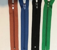 "6"" Nylon Auto Lock Zip"