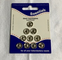 10mm Snap Fasteners - Nickel Plated