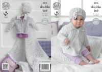 "4316 Knitting Pattern - Double Knit Babies 16 - 26"" Easy Lace Pattern"
