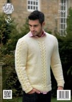 """4241 Knitting Pattern - Men's Aran 34/36 - 50/52""""*"""