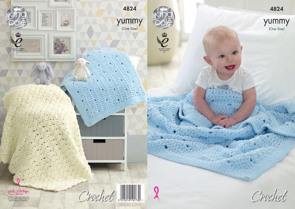 4824 Crochet Pattern - Yummy Baby Blankets