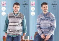 5651 Knitting Pattern - Men's Easy Knit DK (Fjord)