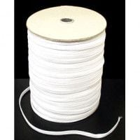 16 Cord White Elastic (13mm Wide)