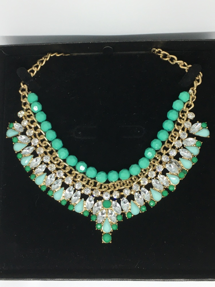Necklace - Green & Gold
