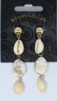 Earrings - Cream & Gold 32793