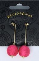 Earrings - Pink & Gold