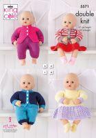 5571 Knitting Pattern DK - Dolls Clothes