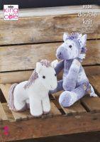 9128 Knitting Pattern - Unicorn in Double Knit