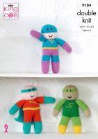 9104 Knitting Pattern - Double Knit Superheroes