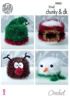 9082 Crochet Pattern - Christmas Tinsel Chunky
