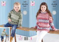 """5650 Knitting Pattern - Children's Easy Knit DK (Fjord) 22 - 30"""""""