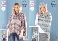 5652 Knitting Pattern - Ladies Easy Knit DK (Fjord)