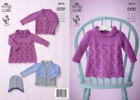 """3973 Knitting Pattern - Aran Babies 12 - 20"""""""